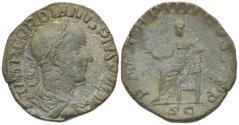Ancient Coins - Gordian III (238-244). Æ Sestertius. Rome, AD 241.  R/ APOLLO