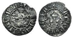 Ancient Coins - Cilician Armenia, Levon I (1198-1219). AR Tram