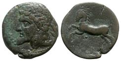 Ancient Coins - Kings of Numidia, Massinissa or Micipsa (203-148 BC or 148-118 BC). Æ Unit (
