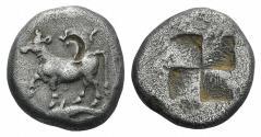 Ancient Coins - THRACE, Byzantion. Circa 340-320 BC. AR Siglos
