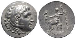 Ancient Coins - Aeolis, Kyme, c. 188-170 BC. AR Tetradrachm. In the name and types of Alexander III of Macedon. Diogenes, magistrate.