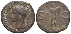 Ancient Coins - Agrippa (died 12 BC). Æ As. Rome, AD 37-41. R/ NEPTUNE