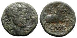 Ancient Coins - Spain, Kelse, c. 45-44 BC. Æ As