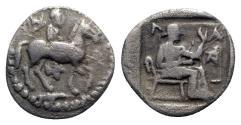 Ancient Coins - Thessaly, Larissa, c. 460-400 BC. AR Trihemiobol