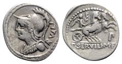 Ancient Coins - P. Servilius M.f. Rullus, Rome, 100 BC. AR Denarius