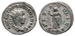 Ancient Coins - Herennius Etruscus (Caesar, 249-251). AR Antoninianus - R/ Spes