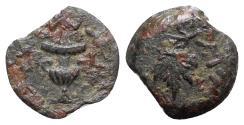 Ancient Coins - Judaea, Jewish War, 66-70 CE. Æ Prutah
