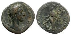 Ancient Coins - Commodus (177-192). Æ Dupondius - Rome - R/ Fortuna
