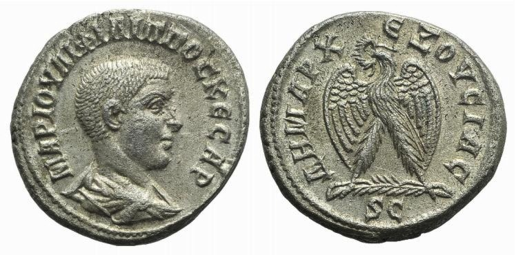 Ancient Coins - Philip II (Caesar, 244-247). Seleucis and Pieria. Antioch. AR Tetradrachm