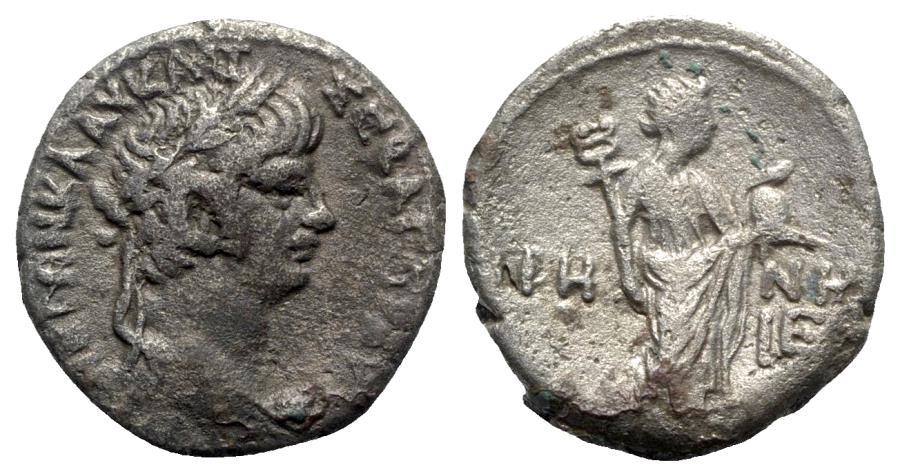 Ancient Coins - Nero (54-68). Egypt, Alexandria. BI Tetradrachm - year 5 - R/ Eirene