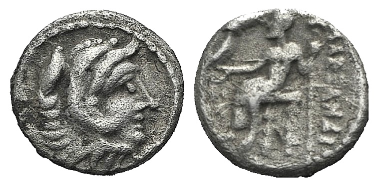 Ancient Coins - Kings of Macedon. Alexander III 'the Great' (336-323 BC). AR Obol