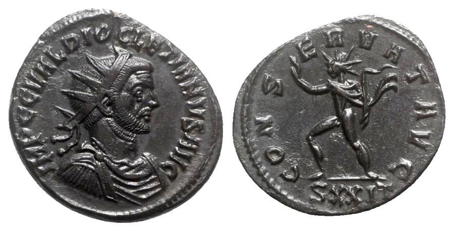 Ancient Coins - Diocletian (284-305). Radiate - Ticinum - R/ Sol
