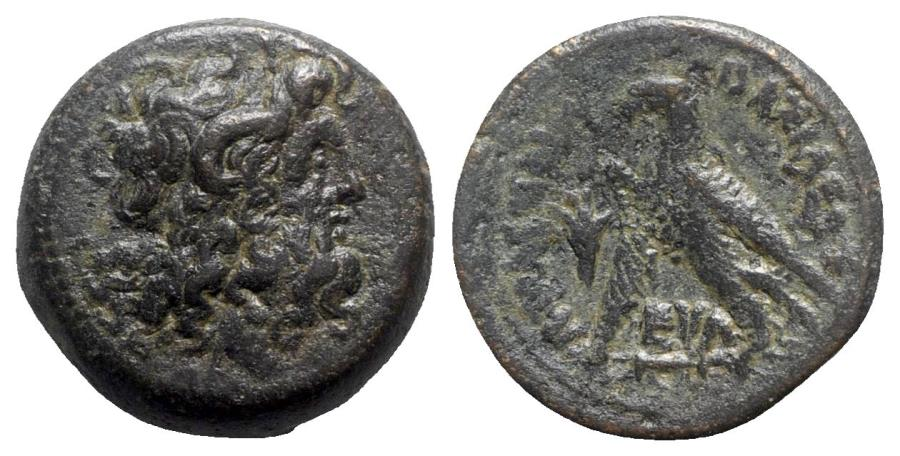 Ancient Coins - Ptolemaic Kings of Egypt, Ptolemy VI Philometor (First reign, 180-170 BC). Æ Obol