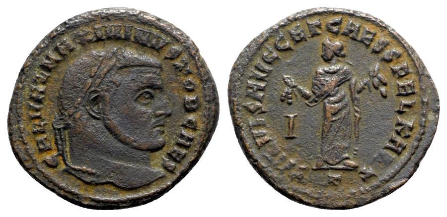 Ancient Coins - Maximinus II (Caesar, 305-309). Æ Follis - Carthage