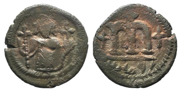 Ancient Coins - Arab-Byzantine, c. 660s-680s. Æ Fals