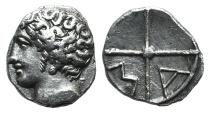 Ancient Coins - Gaul, Massalia, c. 218/5-200 BC. AR Obol