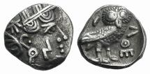 Ancient Coins - ARABIA FELIX. Sabaeans. Circa 3rd century BC. AR Unit  R/ OWL