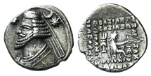 Ancient Coins - PARTHIA, Kings of. Orodes II. 57-38 BC. AR Drachm