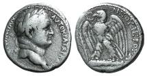 Ancient Coins -  Seleucis and Pieria. Antioch. Vespasian. AD 69-79 . AR Tetradrachm Idealized portrait of Vespasian