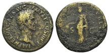 Ancient Coins - Nerva. AD 96-98. Æ Sestertius. Rome mint. Struck AD 97. R/ LIBERTAS