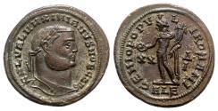 Ancient Coins - Galerius (Caesar, 293-305). Æ Follis - Alexandria - R/ Genius