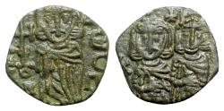 Ancient Coins - Constantine V with Leo IV (741-775). Æ 40 Nummi - Syracuse