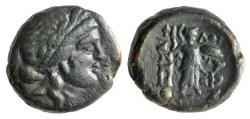 Ancient Coins - Thessaly, Thessalian League, c. 196-27 BC. Æ 18mm