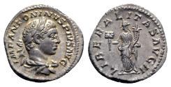 Ancient Coins - Elagabalus (218-222). AR Denarius - Rome - R/ Liberalitas
