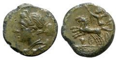 Ancient Coins - Bruttium, The Brettii, c. 211-208 BC. Æ Unit - Nike / Zeus