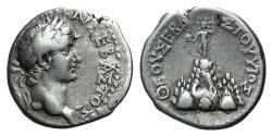 Ancient Coins - CAPPADOCIA, Caesarea-Eusebia. Tiberius. AD 14-37. AR Drachm R/ Mt. Argaeus RARE  First Roman Issue of the Caesarea Mint