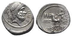 Ancient Coins - Roman Republic - P. Plautius Hypsaeus, Rome, 57 BC. AR Denarius