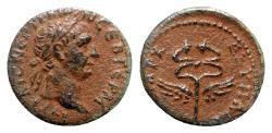 Ancient Coins - Trajan (98-117). Seleucis and Pieria. Æ Semis - Winged caduceus