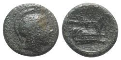 Ancient Coins - ROME REPUBLIC. Anonymous, Rome, c. 217-215 BC. Æ Quartuncia SCARCE