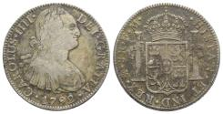 World Coins - Mexico, Carlos IV (1788-1808). AR 8 Reales 1792 FM, Mexico City