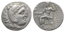 Ancient Coins - Kings of Macedon, Antigonos I Monophthalmos (Strategos of Asia, 320-306/5 BC, or king, 306/5-301 BC). AR Drachm. In the name and types of Alexander III. Kolophon