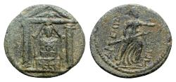 Ancient Coins - Pamphylia, Perge, 2nd-1st century BC. Æ - Cult statue / Artemis