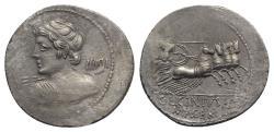 Ancient Coins - Roman Republic - C. Licinius L.f. Macer, Rome, 84 BC. AR Denarius
