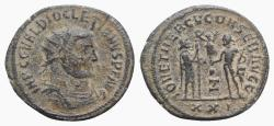 Ancient Coins - Diocletian (284-305). Radiate. Heraclea, 293-5.