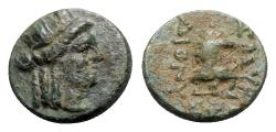 Ancient Coins - Ionia, Smyrna, c. 3rd-2nd century BC. Æ - Dionysios, magistrate