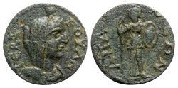 Ancient Coins - Phrygia, Apameia. Pseudo-autonomous issue, c. 3rd century AD. Æ - Boule / Athena - RARE