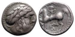 Ancient Coins - Celtic, Eastern Europe, 2nd century BC. AR Tetradrachm