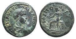 Ancient Coins - Severus Alexander (222-235). Macedon, Amphipolis. Æ 22mm.  R/ Amphipolis enthroned