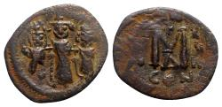 Ancient Coins - Heraclius (610-641). Æ 40 Nummi - Constantinople, year 18