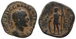 Ancient Coins - Gallienus (253-268). Æ Sestertius. Rome, c. 253-4. R/ Virtus
