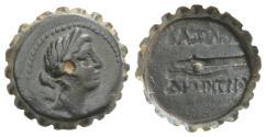 Ancient Coins - Seleukid Kings, Demetrios I (162-150 BC). Serrate Æ 18mm