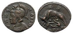 Ancient Coins - Commemorative Series, 330-354. Æ Follis - Treveri - Roma / She-wolf