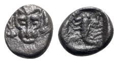 Ancient Coins - Caria, Mylasa(?), c. 450-400 BC. AR Obol
