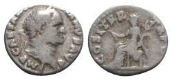 Ancient Coins - Vespasian (69-79). AR Denarius - Rome - R/ Pax seated