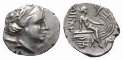 Ancient Coins - Euboia, Histiaia, 3rd-2nd centuries BC. AR Tetrobol Head of the nymph Histiaia R/ Nymph seated