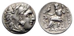 Ancient Coins - Kings of Thrace, Lysimachos (305-281 BC). AR Drachm - Abydos
